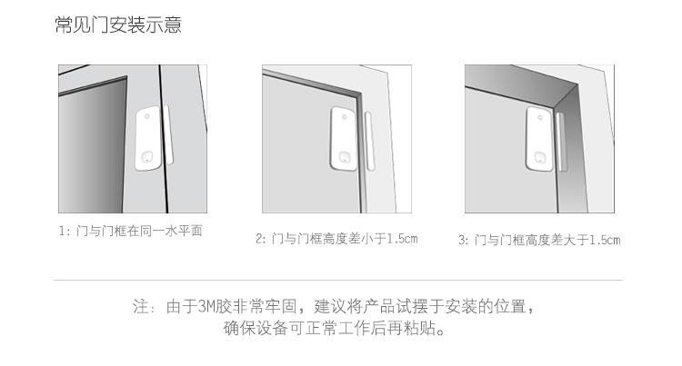 丁盯智能门磁 wifi家用门窗防盗报警器